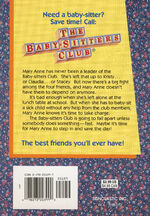 Baby-sitters Club 4 Mary Anne Saves the Day reprint back cover