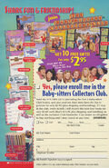 Baby-sitters Collectors Club ad circa 2000 from book FF7 front