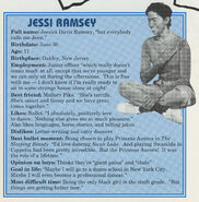 Jessi Ramsey Fan Club profile from summer 1991 newsletter
