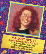 Mallory 1991 portrait and bio from Remco doll box
