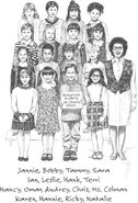The Kids in Ms Colmans class school picture illustration