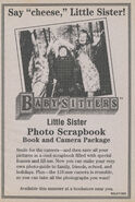 Little Sister Photo Scrapbook bookad from BLS 74 1stpr 1996