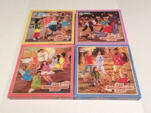 All four BSC jigsaw puzzles in boxes
