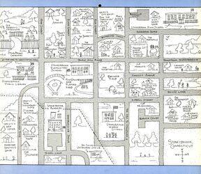 1990 Calendar Map of Stoneybrook