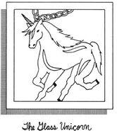 Glass unicorn for Dawns bracelet SS1