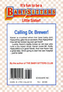 Baby-sitters Little Sister 35 Karens Doll Hospital back cover