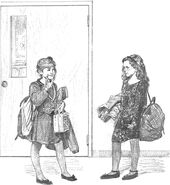 Karen saying Bye to Nancy before school Colman1-3