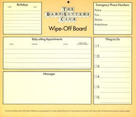 1991 calendar Wipe-Off Board