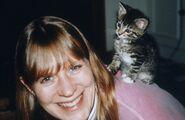 2000 with kitten Peanut