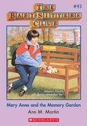 BSC 93 Mary Anne Memory Garden ebook cover