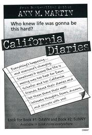 California Diaries 1 and 2 bookad from CD1 1stpr 1997