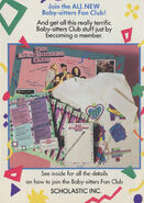 Collectors Mini Book back cover All New BSC Fan Club