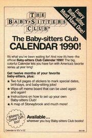 BSC 1990 calendar bookad from 29 orig 1stpr 1989