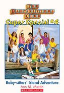 Super Special 4 Baby-Sitters' Island Adventure cover stock image