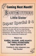 Super Special 4 Karen Hannie and Nancy bookad from BLS 30 2ndpr 1992