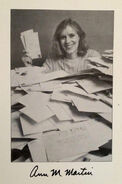 Ann M Martin author fan mail photo