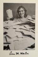 Ann M Martin author fan mail photo