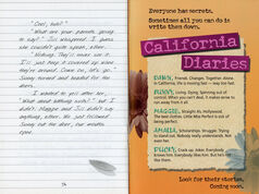 California Diaries preview booklet last inside
