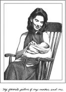 Alma Spier with Mary Anne as a baby MAB