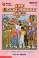 Baby-sitters Club 24 Kristy and the Mothers Day Surprise original cover