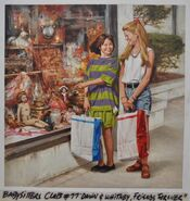 Baby-Sitters Club 77 Dawn and Whitney Friends Forever cover original painting