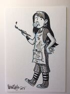 Claudia raina telgemeier original drawing