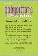 Baby-sitters Little Sister 02 Karens Roller Skates 2001 reprint back cover