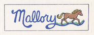 Mallory sticker from 1992 calendar