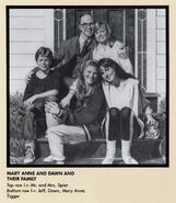 Mary Anne Spier Dawn Schafer Family Portrait from 1991 Calendar