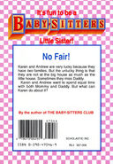 Baby-sitters Little Sister 48 Karens Two Families back cover