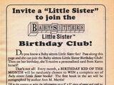 Little Sister Birthday Club