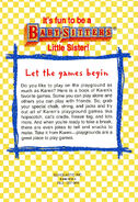 Baby-sitters Little Sister Playground Games back cover