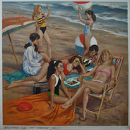 Super Special 5-California Girls-22x22 oil on linen