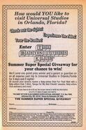 Summer Super Special Giveaway Universal Studios bookad from 67 1stpr 1993