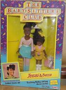 Jessi Becca Remco dolls box front yellow dress