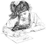 Karen writing letter to Mr Bennett Colman2-4