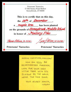 Secret Santa Card 15 Logan to Mallory inside
