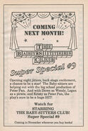 Super Special 9 Starring the Baby-sitters Club bookad from 59 orig 1stpr 1992