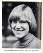 Ann M Martin from Smith College 1977 yearbook