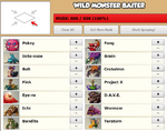 Wild Monster Baiter Screen