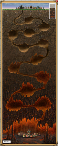 Inferno Cavern Descent Map