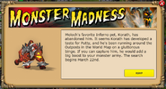 Monster Madness Info