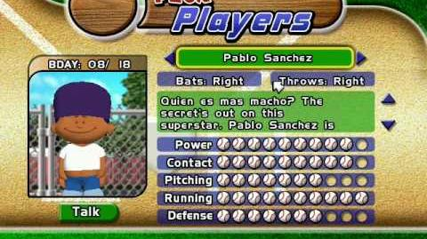 Backyard Baseball 2005 - Pablo Sanchez Theme - Pablo Sanchez Backyard Sports Wiki FANDOM Powered By Wikia