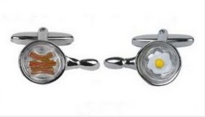 Bacon cufflinks