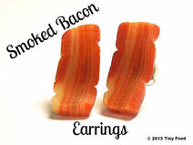 Smoked Bacon Earrings