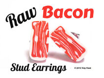 Raw Bacon Earrings