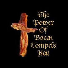 Power of bacon mini button 100 pack