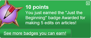 Just the Beginning (earned)
