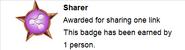 Sharer (earned hover)