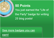 Life of the Party (earned)